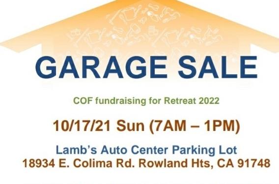 COF Garage Sale